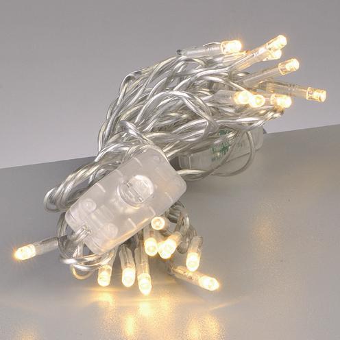 led lichterkette 20tlg transparent mit schalter warmes licht 4033662898438 ebay. Black Bedroom Furniture Sets. Home Design Ideas