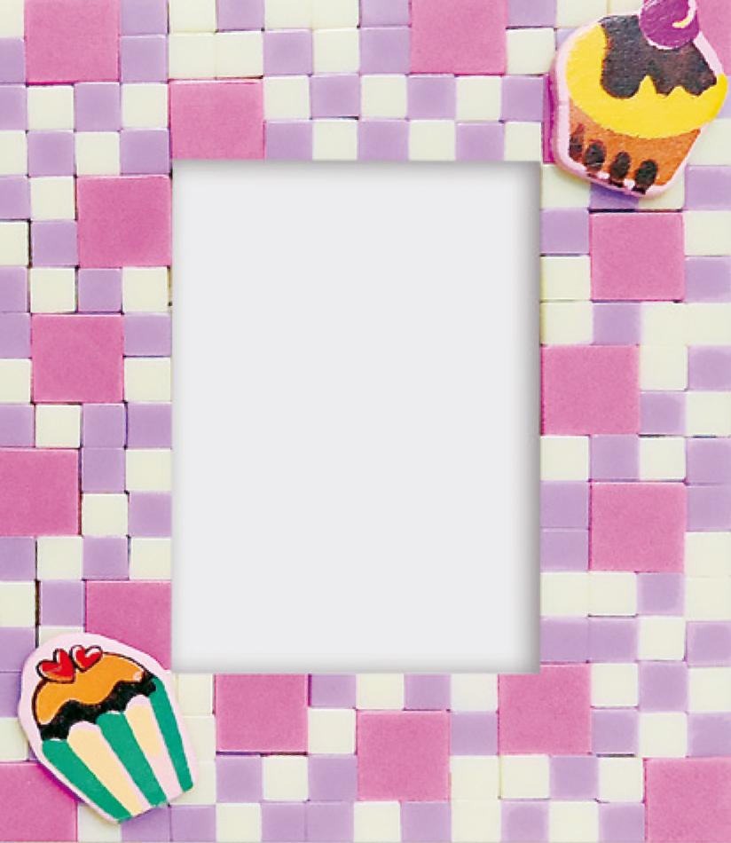 kreativ set selbstklebendes poly mosaik bilderrahmen kuchen 4113 mosaik shop selbstklebendes mosaik. Black Bedroom Furniture Sets. Home Design Ideas