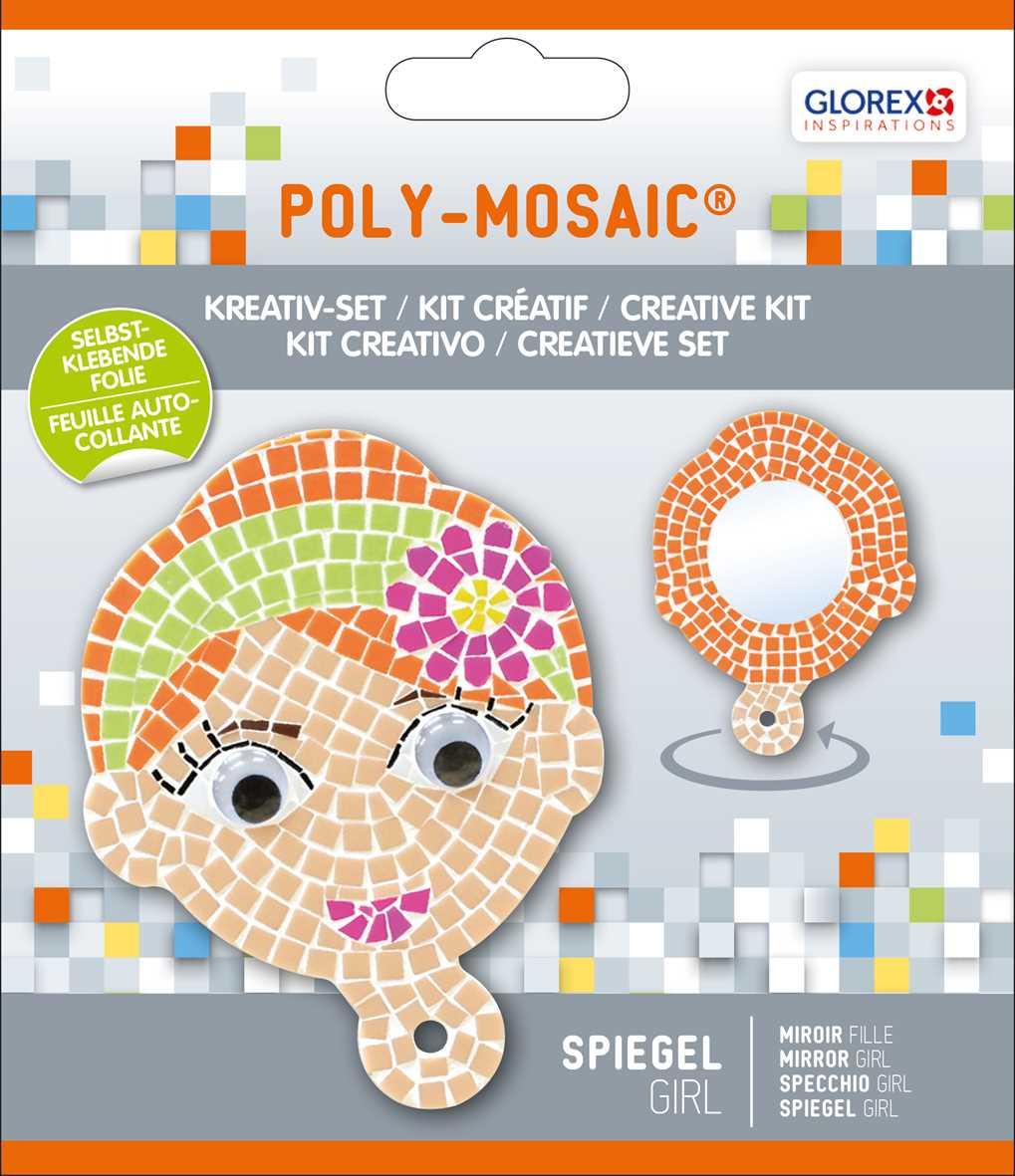 Kreativ set selbstklebendes poly mosaik spiegel girl 41141 mosaik shop selbstklebendes mosaik - Mosaiksteine spiegel ...