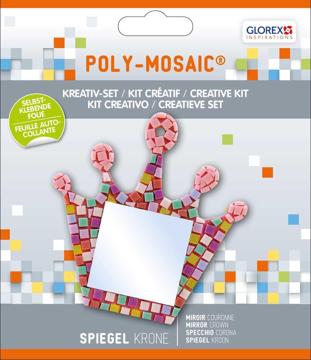 Kreativ set selbstklebendes poly mosaik spiegel krone 41142 mosaik shop selbstklebendes mosaik - Mosaiksteine spiegel ...
