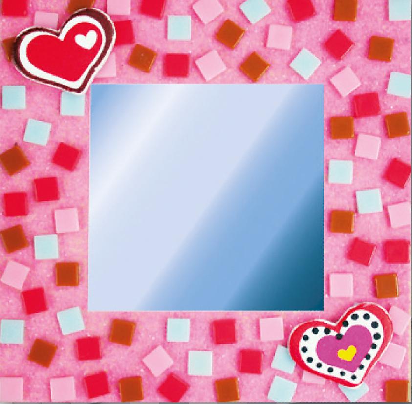 Kreativ set selbstklebendes poly mosaik spiegel herzen 41143 mosaik shop selbstklebendes mosaik - Mosaiksteine spiegel ...