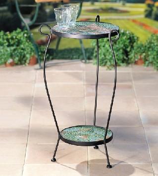 Mosaik Tisch Rund Durchmesser 30 Cm 2stufig Ebay