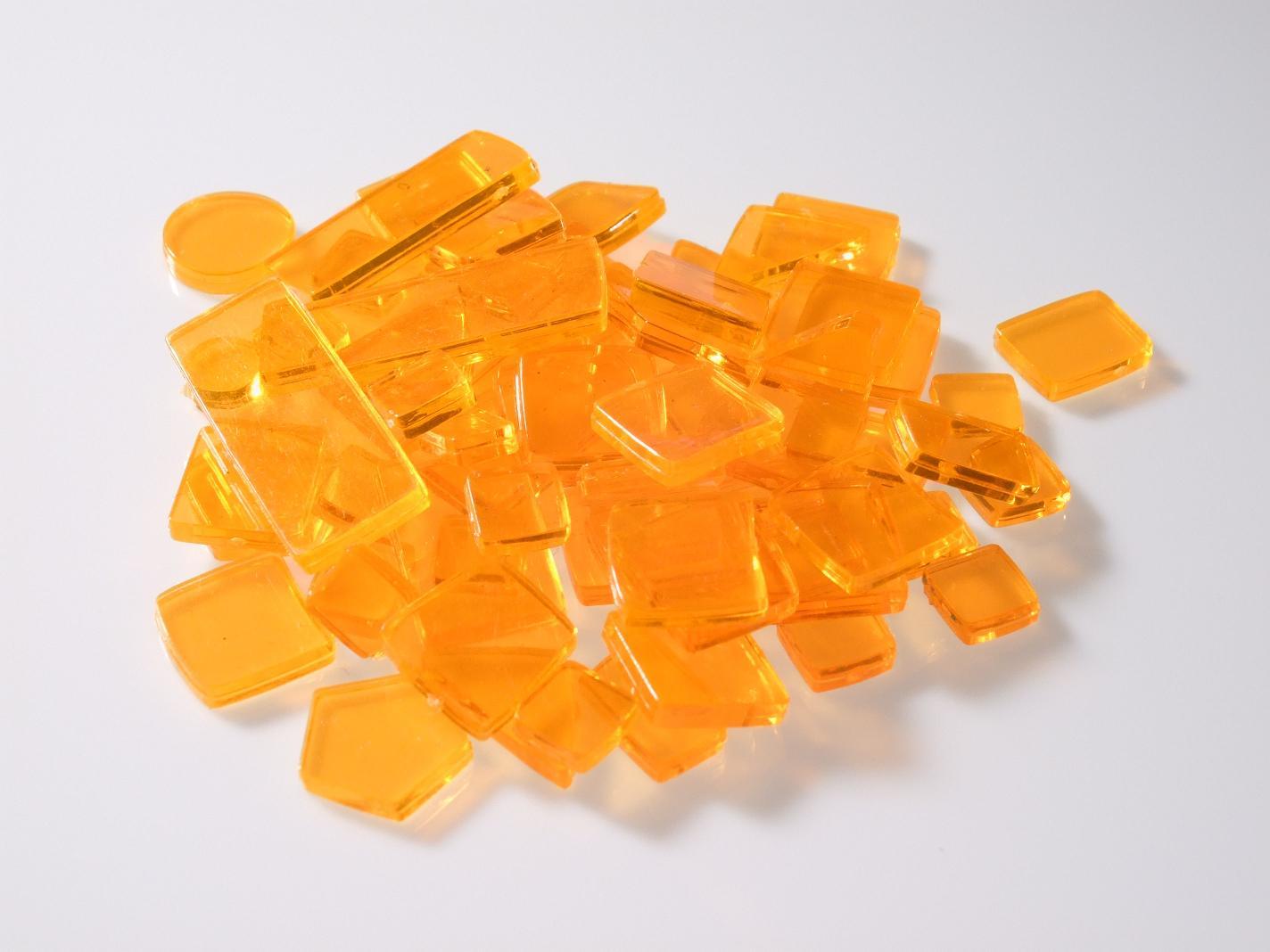 kunststoff mosaiksteine div formen orange 40g u51 50a. Black Bedroom Furniture Sets. Home Design Ideas