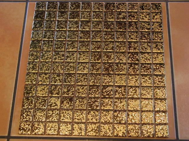 X Keramik Mosaik GOLD GEHÄMMERT Stk GO Mosaik Shop GOLD - Mosaik fliesen braun gold
