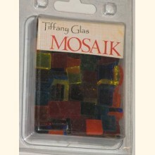 TIFFANY Glas Mosaik 1x1cm TRANSPARENT BUNT-MIX T189-10e