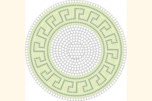Mosaik Vorlage BACHUS d= 60cm incl. Kohlepapier V1309 Mosaik Shop ...