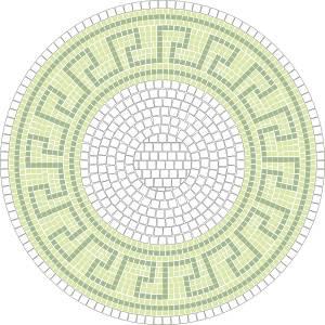 mosaik vorlage bachus d 60cm incl kohlepapier v1309. Black Bedroom Furniture Sets. Home Design Ideas