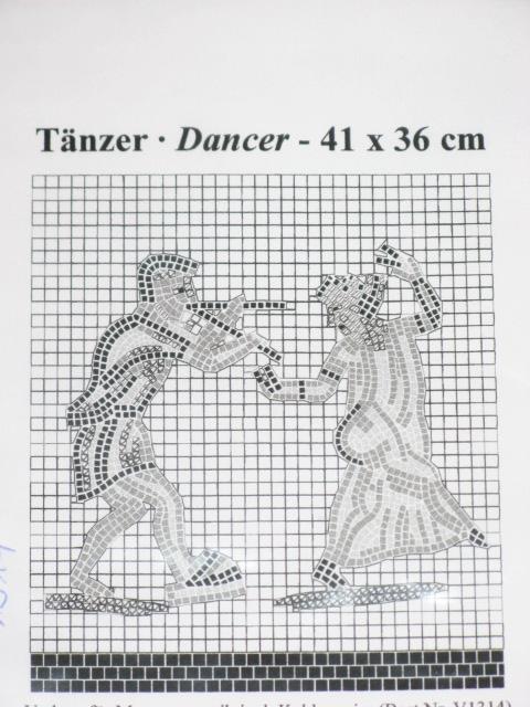 Mosaik Vorlage TÄNZER 41x36cm incl. Kohlepapier V1314 Mosaik Shop ...
