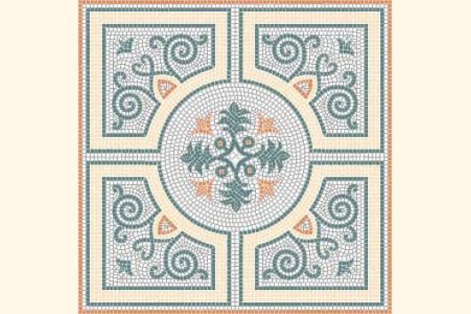 mosaik vorlage agra 80x80cm incl kohlepapier v1316 mosaik. Black Bedroom Furniture Sets. Home Design Ideas