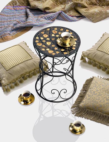 metall hocker d 30 cm mosaik 450203 mosaik shop mosaik. Black Bedroom Furniture Sets. Home Design Ideas