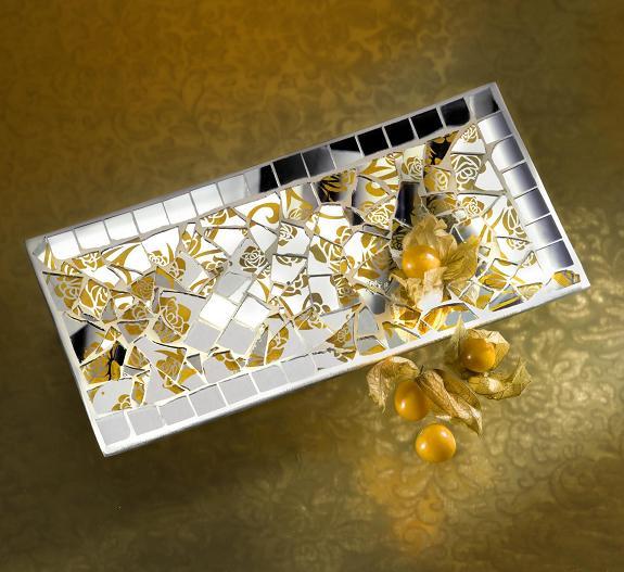 retro mosaik spiegel gold 100g 495010 mosaik shop. Black Bedroom Furniture Sets. Home Design Ideas